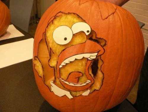 pumpkin-carvings-the-simpsons-homer-simpson-1