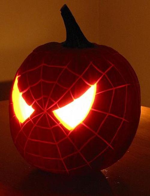 spiderman-pumpkin-face